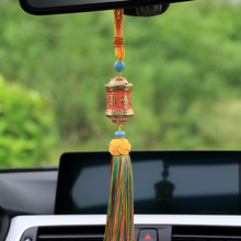 Автомобиль кулон буддийский Тибетский молитвы колеса с кисточкой авто Интерьер заднего вида mirrorr украшение висит Украшения Интимные аксессуары