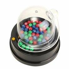 Электрическая машина для сбора счастливых чисел, мини лотерея, бинго, игры, встряхивание, счастливый мяч, новинка и кляп, игрушки, подарок для детей и взрослых
