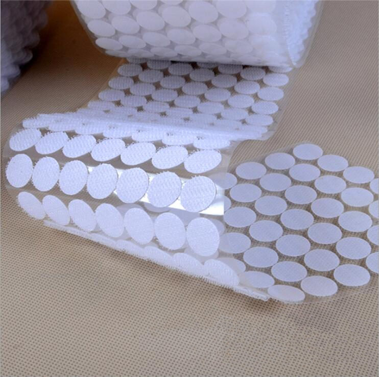 50Pairs Nylon hooks and loops Sticker strong self Adhesive Round dot glue on stickers home use Curtain fastener