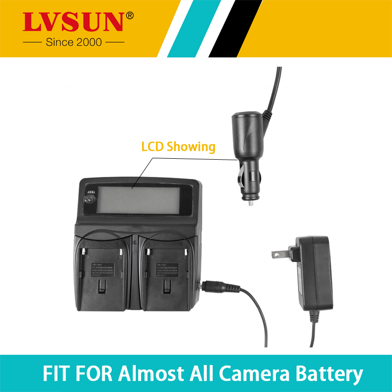 LVSUN Universal DC & Car Camera Battery Charger for NP-FW50 battery NP FW50 Camera Battery and charger for Sony a5100 NEX5T kingma dual 2 channel np fw50 battery charger for sony a5000 a5100