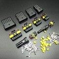 5 Kits da retardação da flama 1 P 2 P 3 P 4 P 5 P 6 P forma selado à prova d' água Conector Do Fio automotivo Carro Motocicleta HID auto conector