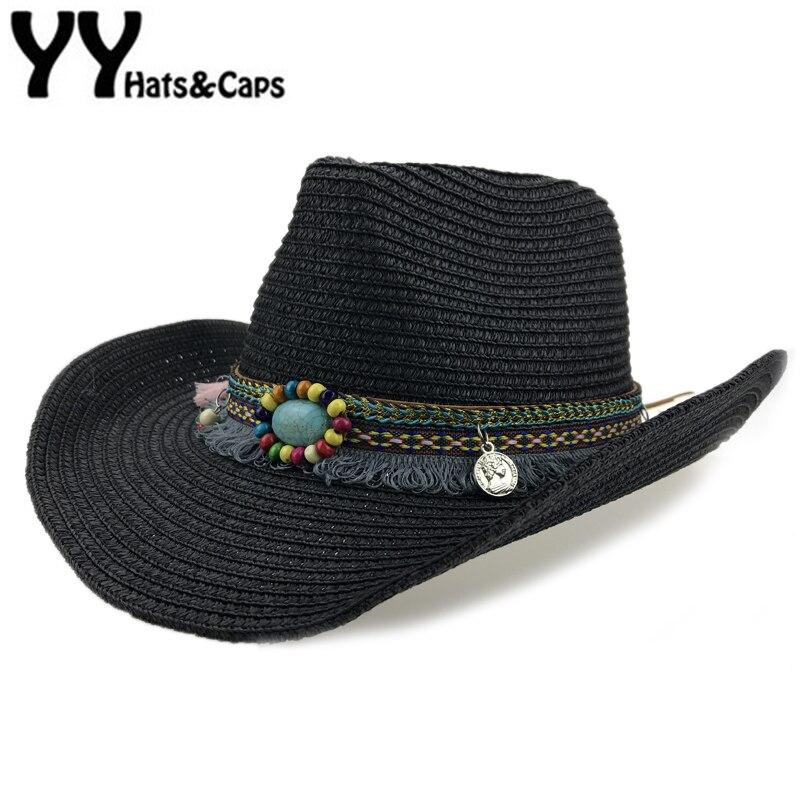 Us 12 13 25 Off Straw Western Cowboy Hat Men Hand Made Beach Felt Sunhats Summer Party Cap For Man Woman Cowboy Hat Unisex Western Hats Yy17168 In