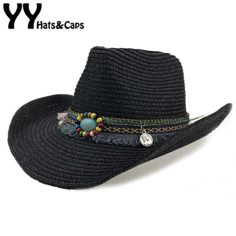 Detail Feedback Questions about Straw Western Cowboy Hat Men Hand Made  Beach Felt Sunhats Summer Party Cap For Man Woman Cowboy Hat Unisex Western  Hats ... 076e92533c0