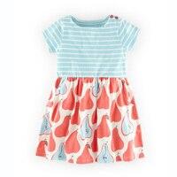 18M 6T Cute Pear Dress Girls Summer Dresses Cotton Kids Clothes Vestidos Robe Fille Enfant Vetement