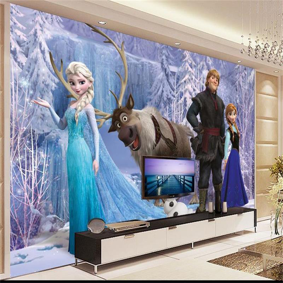 3d wallpaper photo wallpaper custom kids mural living room queen ice world 3d painting sofa TV background wall non-woven sticker