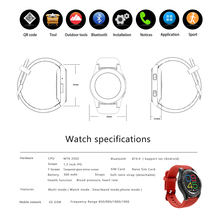 G8 Smartwatch, Bluetooth 4.0, SIM, Call Message Reminder, Heart Rate Monitor for Android & iOS Phone