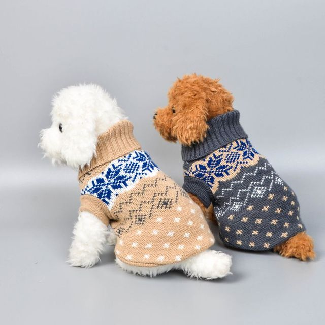 Winter Pet Sweater with Pattern