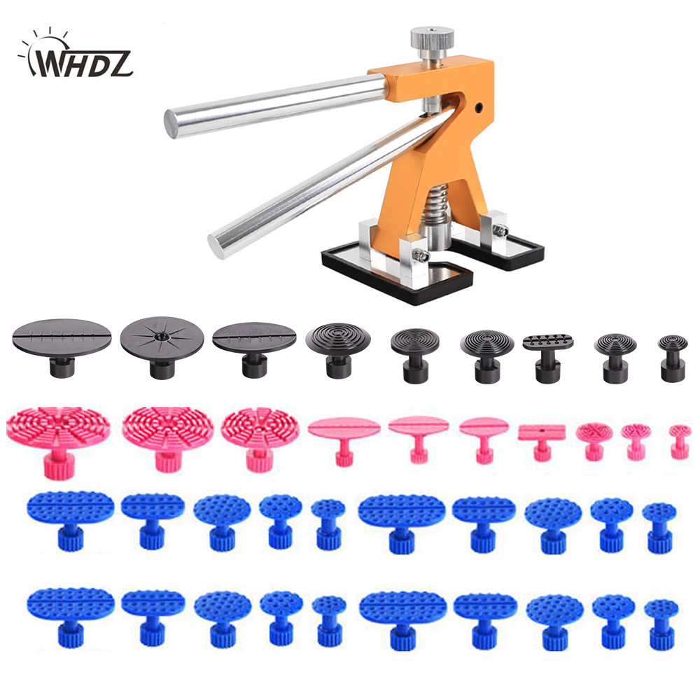 WHDZ PDR Tools Paintless Dent Repair Tools Dent Removal Dent Puller Tabs Dent Lifter Hand Tool Set PDR Toolkit Ferramentas super pdr tools dent removal pdr tool kit dent puller tabs hand tool set paintless dent repair tools