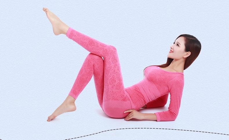 Long Johns Women For Winter Sexy Women Thermal Underwear Suit Women Body Shaped Slim Ladies Intimate Sets Female Pajamas Warm 78 (2)