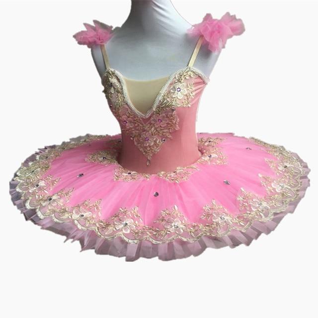 06ebd3ac7 Pink Ballet Dance Dress Women Adult Professional Ballet Tutu Swan ...
