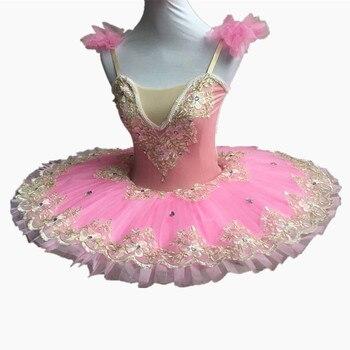 2f81a73639a Vestido de baile de Ballet rosa para adultos Ballet profesional tutú Swan  Lake disfraces bailarina niños leotardo vestido de actuación