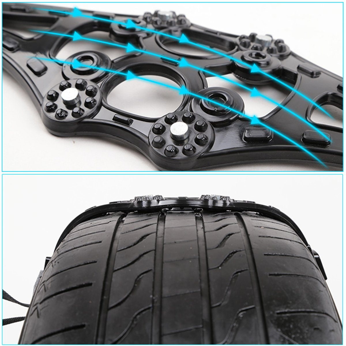 Image 2 - 8pcs/set 4pcs/set Car Tyre Winter Roadway Safety Tire Snow Adjustable Anti skid Safety Double Snap Skid Wheel TPU Chains-in Snow Chains from Automobiles & Motorcycles