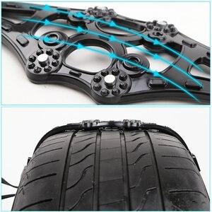 Image 2 - 8pcs/set 4pcs/set Car Tyre Winter Roadway Safety Tire Snow Adjustable Anti skid Safety Double Snap Skid Wheel TPU Chains