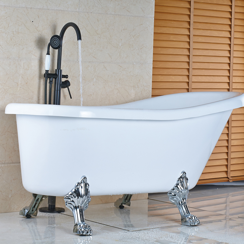 Wholesale and Retail Bath Tub Mixer Faucet W/ Ceramic Handshower Oil Rubbed Bronze