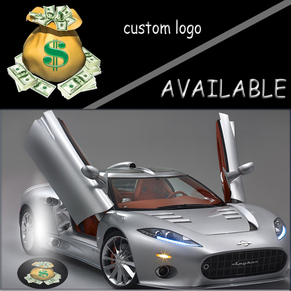 Auto Car Door Welcome LED Logo Projector Ghost Shadow Lights Laser Lamp Puddle Light 12V for MONEY $ #5365 2pcs projector laser auto open door welcome step logo led lights for ford blue mustang 50 years 5139