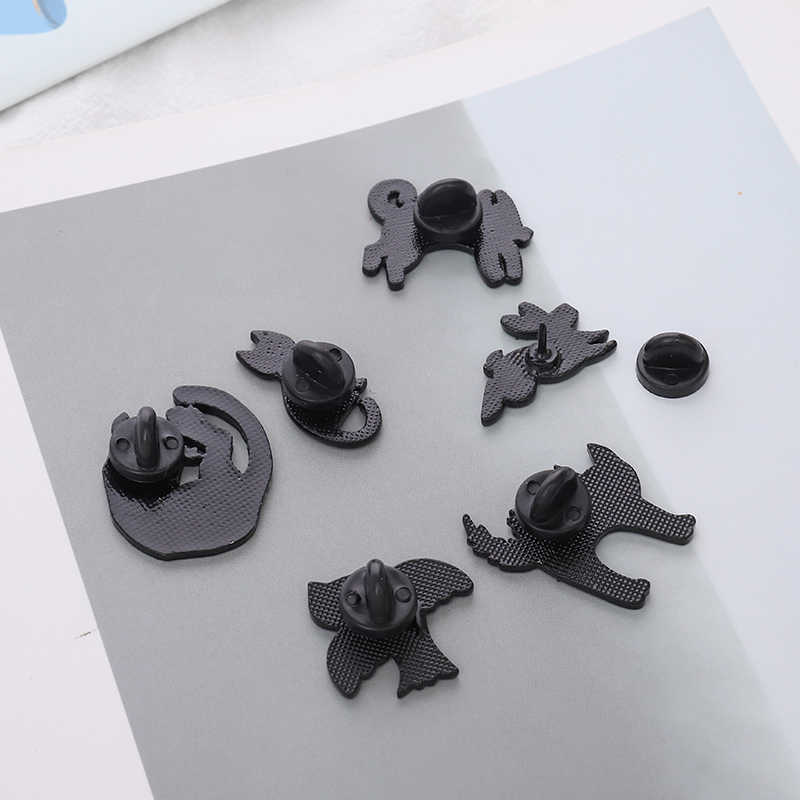 Kerangka Pin X-Ray Burung Kucing Kelinci Tulang Spesimen Bros Lencana Enamel Ransel Medis Pin Teman Hadiah Perhiasan Grosir