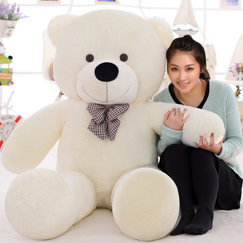 2017 lovely giant teddy bears stuffed animal /big bear plush toy/large teddy bear/huge teddy bear 100cm LLF 120cm teddy bear hull plush toys teddy bears hull large animal coat wholesale there is no filling free delivery