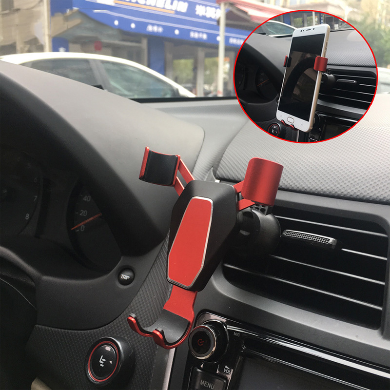 Gravity Car Mount Phone Holder Car Phone Holder Organizer 360 Degree GPS Air Vent Mount Clip Car Outlet Bracket Car Accessories in Universal Car Bracket from Automobiles Motorcycles