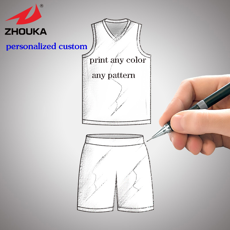 Reversible quick dry full sublimation custom college basketball jerseys personalized print Colorful patterns basquete jersey