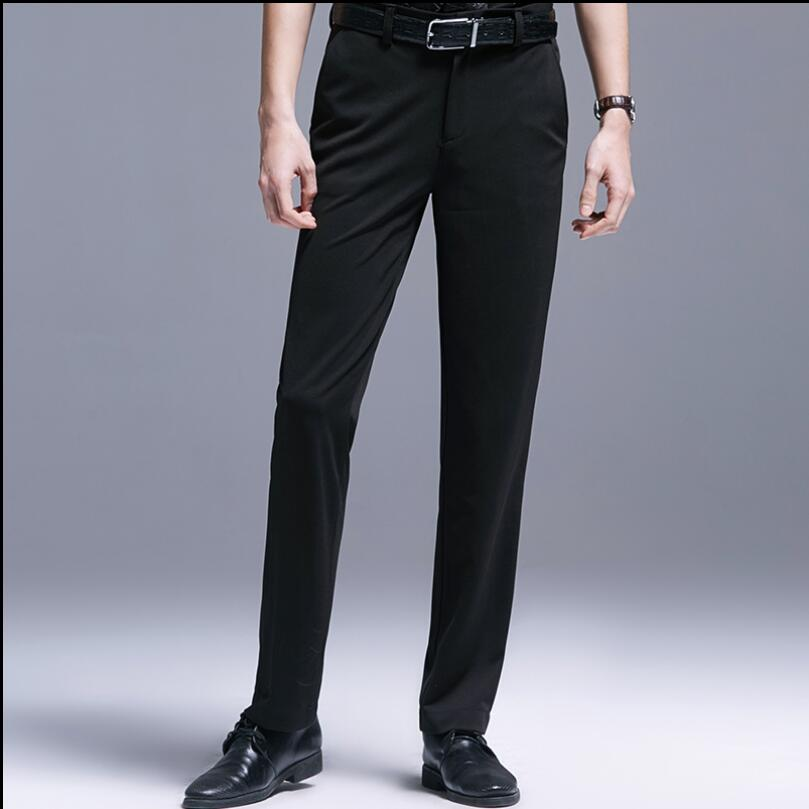 S-4xl Original Design 2020 Men's Four Seasons Casual Slim Tide Feet Pants Business Gentleman Balck Fashion Plus Size Trousers