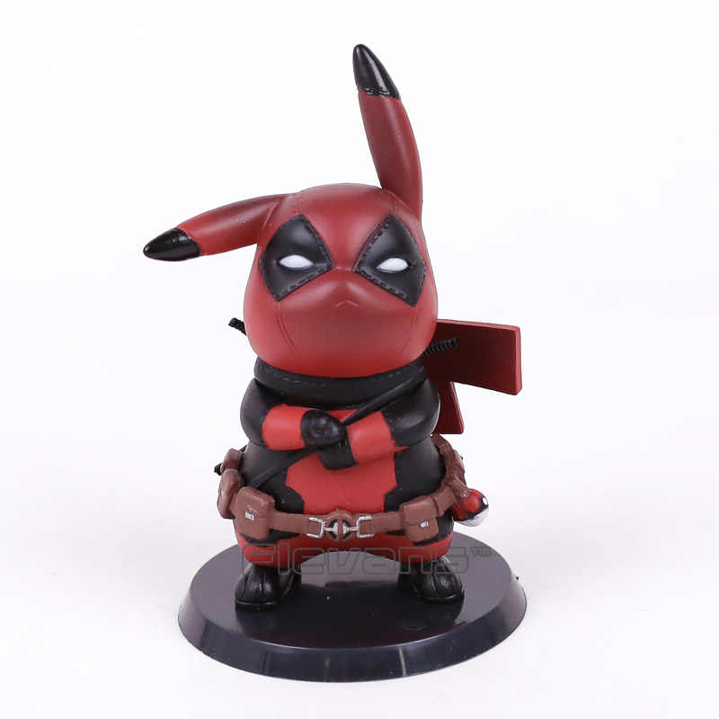 Deadpool/Capitão América Mini PVC Figura Collectible Modelo Toy Boneca Presente