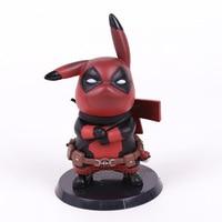 Pikachu Cos Deadpool Captain America Mini PVC Figure Collectible Model Toy Small Size 10cm