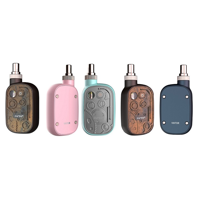 Electronic Cigarette Kit Curdo Viktor Box Mod 400mah Battery Vape Mod Variable Voltage Starter kit With 1ml Ceramic Coil Tank(China)