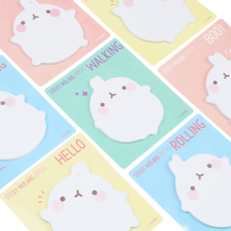 1pc Chic Scrapbooking Kawaii Molang Rabbit Memo Pad Stickers Bookmark Tab Flags Marker Notes Office School Stationery Supplies
