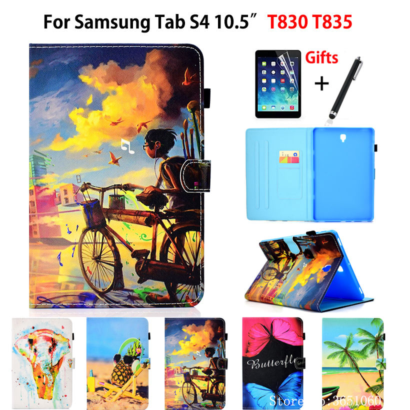 Case For Samsung Galaxy Tab S4 10.5 Inch T830 T835 T837 SM-T830 SM-T835 Cover Funda Tablet Fashion Print Stand Shell