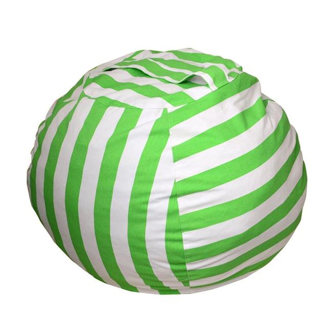 Pleasing Us 21 19 38 Off Kids Stuffed Animal Storage Bean Bag Chair With Extra Long Zipper Carrying Handle Large Size Green Stripe In Storage Bags From Squirreltailoven Fun Painted Chair Ideas Images Squirreltailovenorg