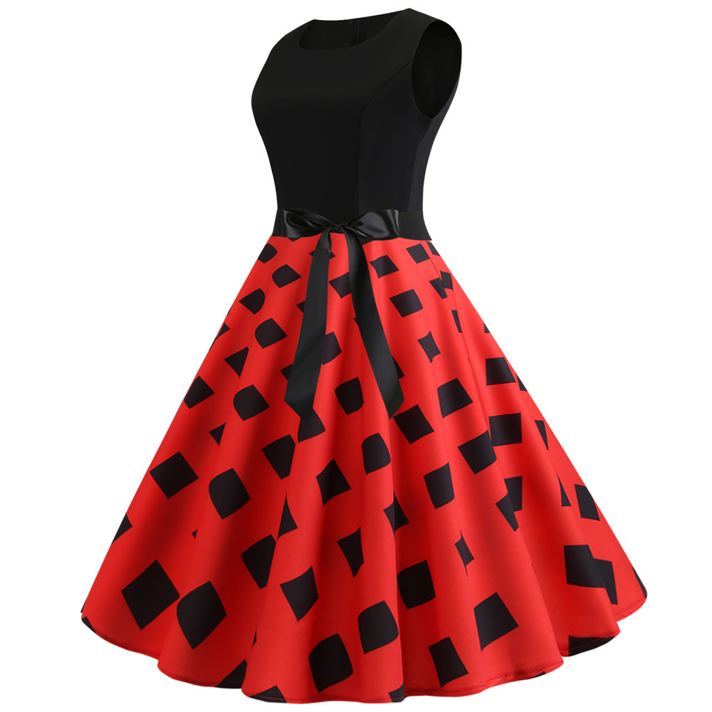 HTB1DjhXbvvsK1Rjy0Fiq6zwtXXa7 Women Summer Dresses 2019 Robe Vintage 1950s 60s Pin Up Big Swing Party Work Wear Rockabilly Dress Black Polka Dot Vestidos