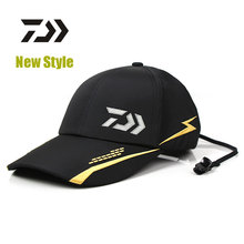 2017 New style DAIWA Fishing Hat Outdoor Summer Breathable Comfortable Caps Sunshade Hats With 2 Colors-Black-Red