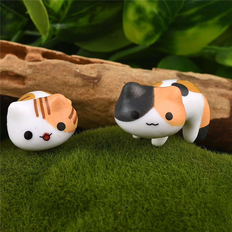 Cute cat micro landscape decoration 3