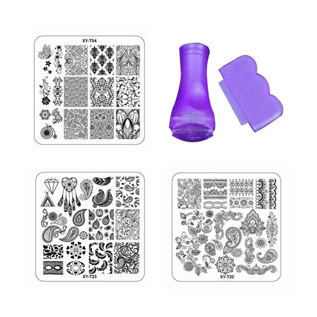 New Lace St&ing DIY Nail Art Plates Set Flower Design Plastic Template Plates Gel Polish Nail  sc 1 st  AliExpress.com & New Lace Stamping DIY Nail Art Plates Set Flower Design Plastic ...