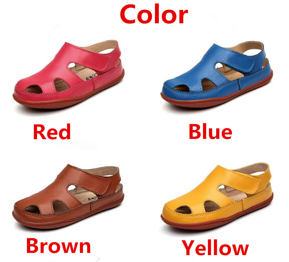 Children's leather sandals-15