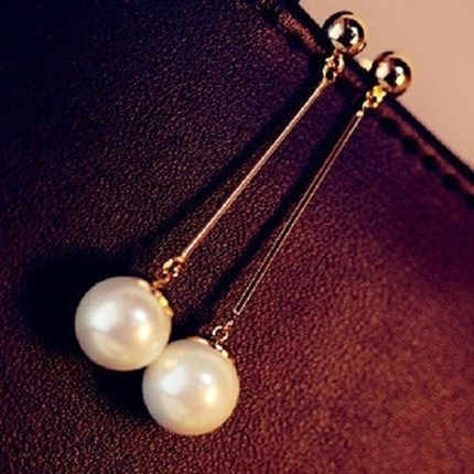 2018 Limited Brincos New Arrival Ball Stainless Steel Fashion Pearl Earrings Wind Women Trendy For Chrismas /birthday Gift E110