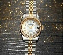SANGDO 28 мм автоматические часы с самоходным механизмом, высококачественные роскошные женские часы, механические часы 014S