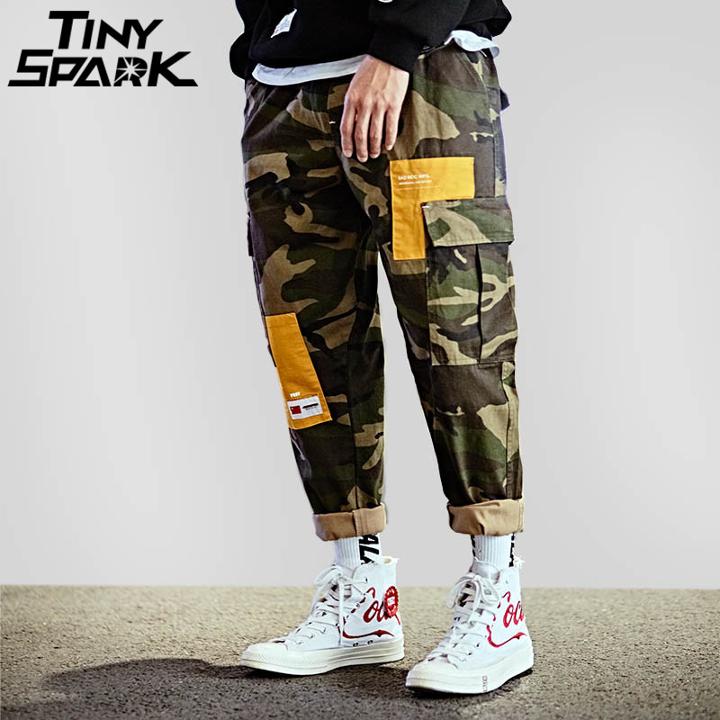 Camouflage Baggy Hip Hop Pant Streetwear Mens Big Pocket Casual Loose Harem Pant Army Green Military Tatical Cargo Trousers