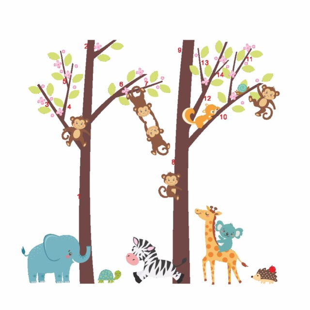 Cartoon Trees Curtains For Kids Boys Bedroom Blinds Linen: Aliexpress.com : Buy Cartoon Monkey Squirrel Climbing Tree