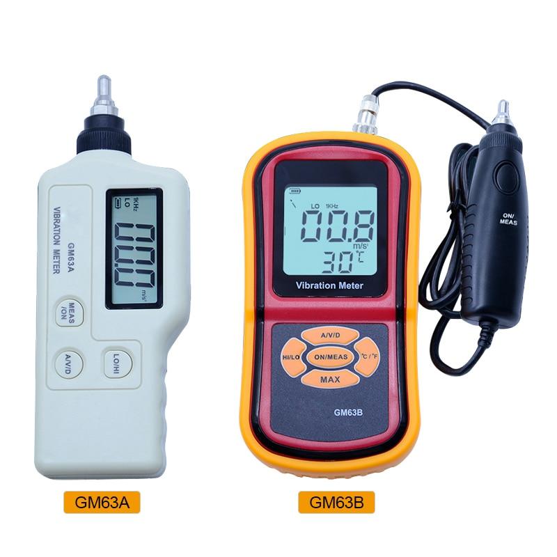 GM63A/63B Handheld Portable LED Digital Vibration Sensor Meter Tester Vibrometer Analyzer Acceleration with carry box 2016 newest hot digital lcd vibration meter tester vibrometer bearing condition detector hot sale