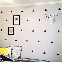 Hot Geometry Triangles sticker pattern Vinly wall stickers children sticker Wall stickers For Kids Room 42pcs 21pcs /lot