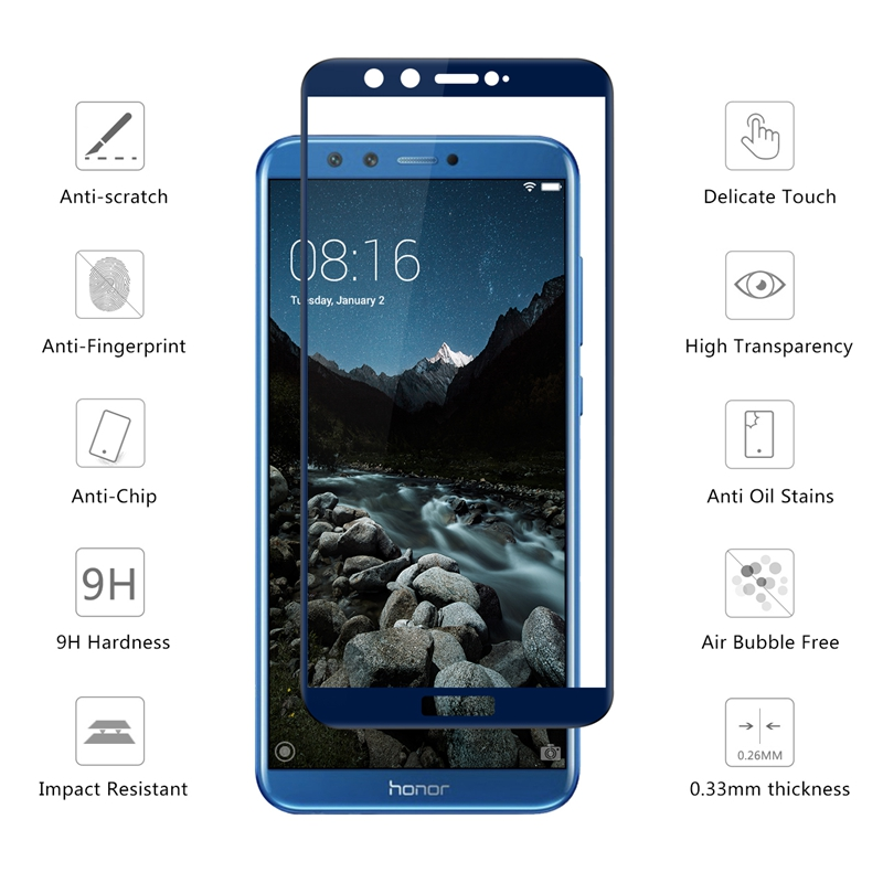 Image 4 - honor 9 lite protective glass on honor 9 lite for huawei honor 9lite 9 10 light honor9 screen protector safety tempered film 3D-in Phone Screen Protectors from Cellphones & Telecommunications