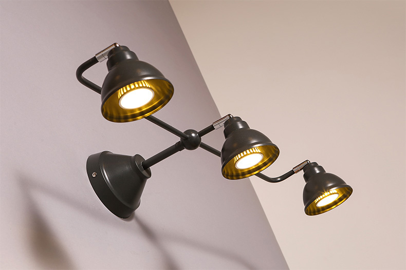 Nordic Wrought Iron 3 Lamp Wall Led Light Contracted Led Wall Lamp Adjustable Decoration Wall ...