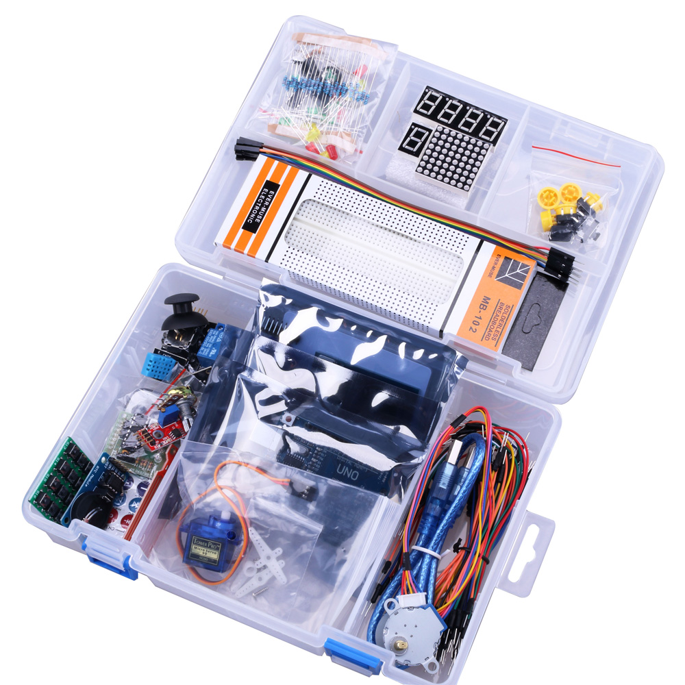 UNO R3 Starter KIT Upgraded version of the Starter Kit the RFID learn Suite LCD 1602 for arduino kit