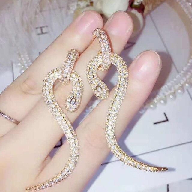 Купить женские серьги капельки be 8 e797 стильные длинные в форме змеи картинки