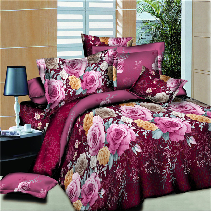 BEST.WENSD New style bedding luxury Multicolored Flowers comforter set beddengoed king quilt cover sets Home textiles bed sets