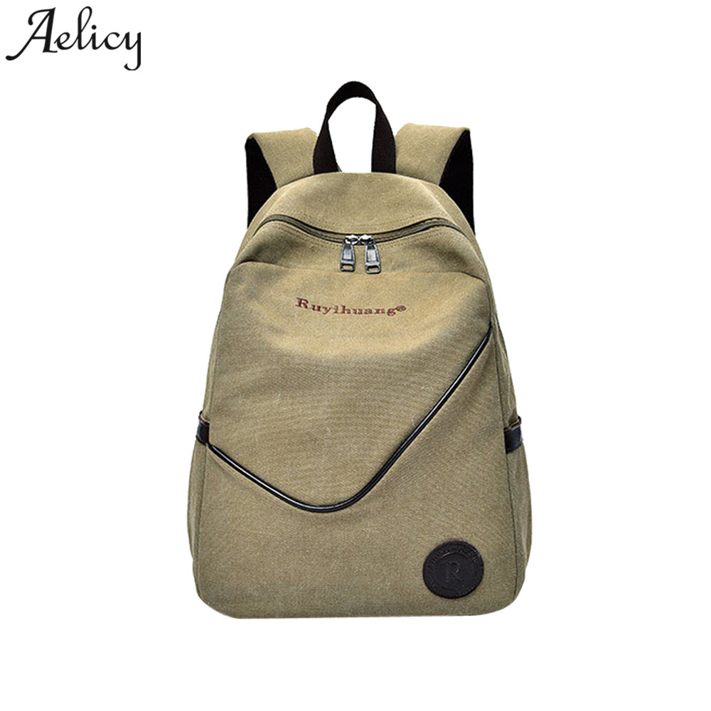 Aelicy Men Backpack Casual Canvas Backpack Travel Student Boys School bag male Laptop Bag 2019 mochila feminina dropshippingAelicy Men Backpack Casual Canvas Backpack Travel Student Boys School bag male Laptop Bag 2019 mochila feminina dropshipping