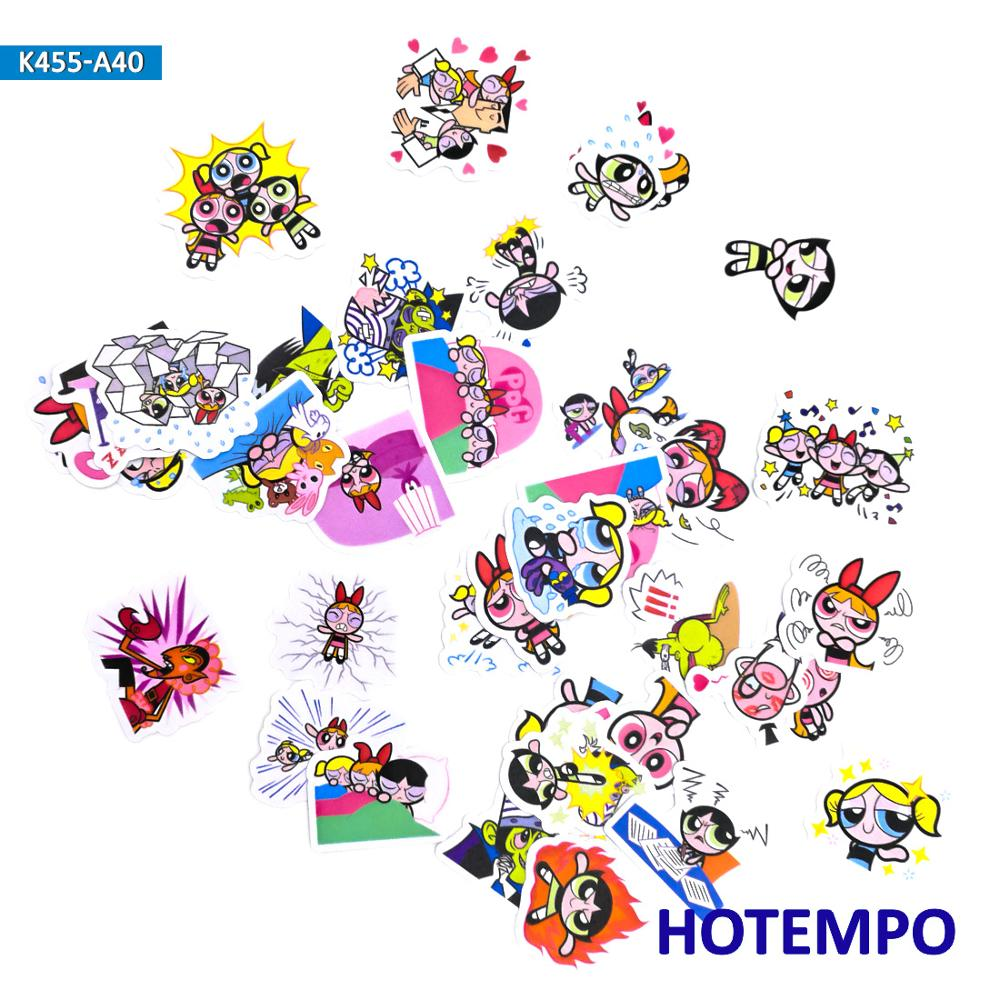 40pcs Cute Lovely Anime Blossom Stationery Scrapbooking Stickers Toys For Kids Children Letter Diary Pegatinas Cartoon Stickers