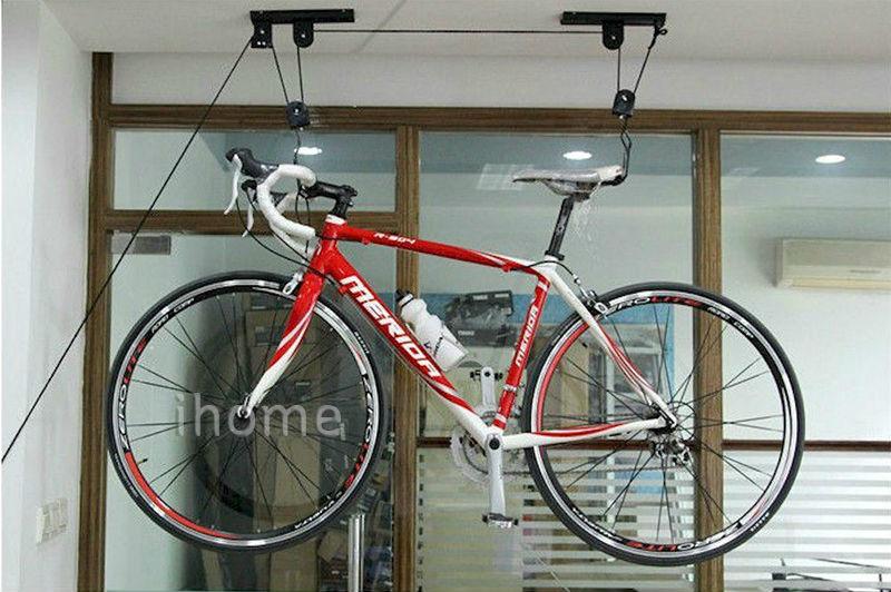 Fiets lift plafond gemonteerd takel opslag garage bike hanger