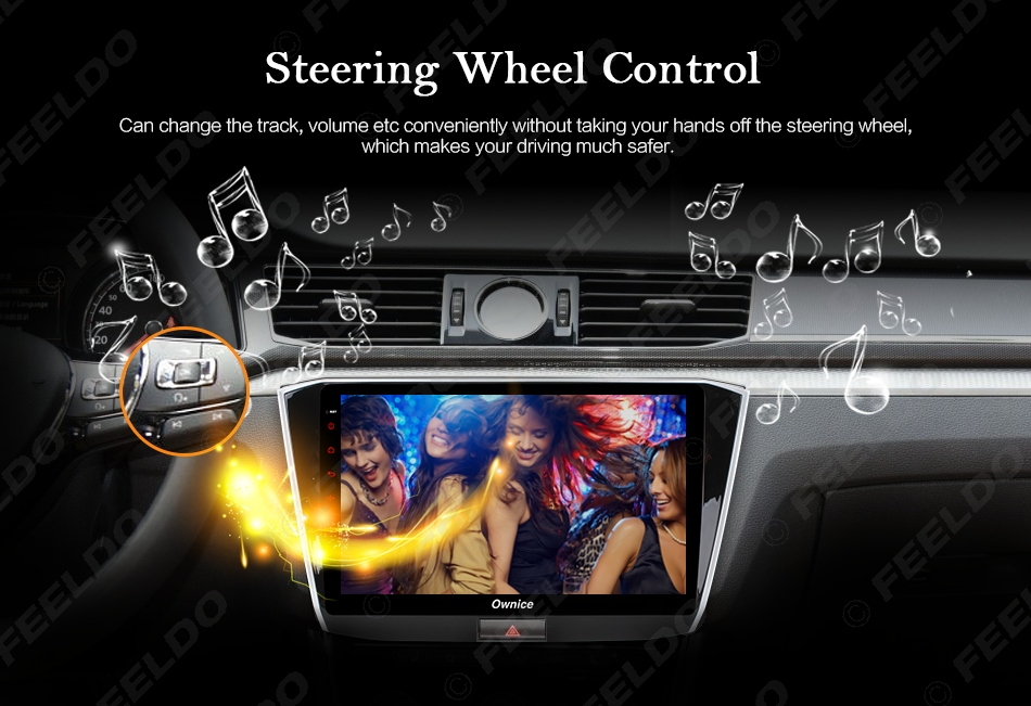 """Cheap FEELDO  10.1"""" Android 6.0 4-Core/DDR3 1G/16G/Support 4G Dongle Car Media Player With GPS/FM/AM RDS For Superb 2016 (Superb B8) 18"""